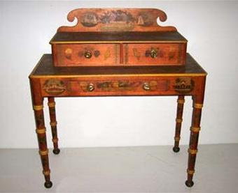 Dressing Table, Hand Painted by Elizabeth Morse Harding Circa 1810.